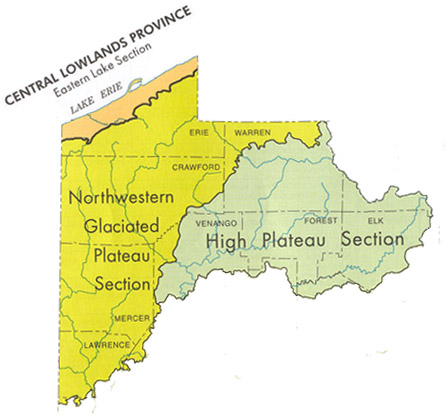 Physiographic Provinces of Northwest Pennsylvania