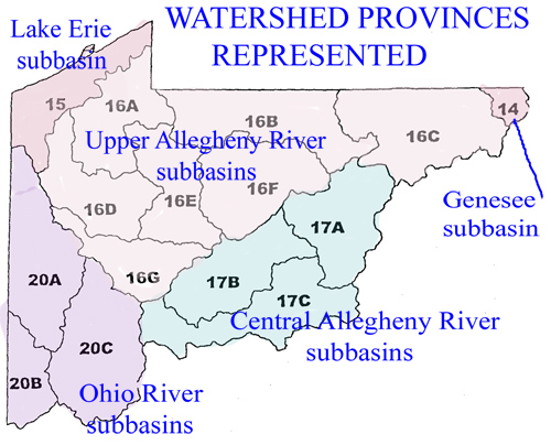 Watershed Provinces of Pennsylvania